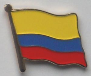 Colombia Country Flag Enamel Pin Badge